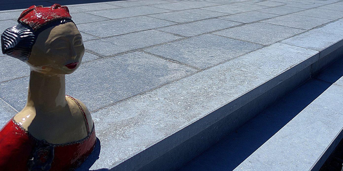 tegels belgische blauwe hardsteen